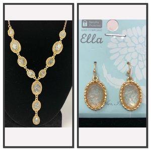 Ella Designs Druzy Necklace and Earrings Set